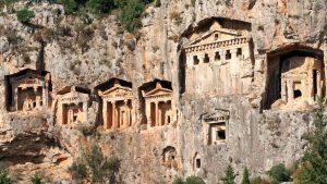 Kaunos rock tombs Blue Cruise in Turkey