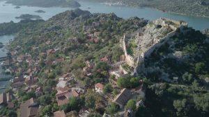 Kalekoy village coast simena castle ucagiz turkey