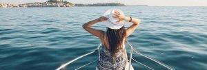 woman onboard yacht gulet Kekova