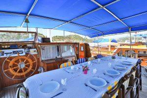 The Kasapoğlu III gulet yacht Turkey rear deck