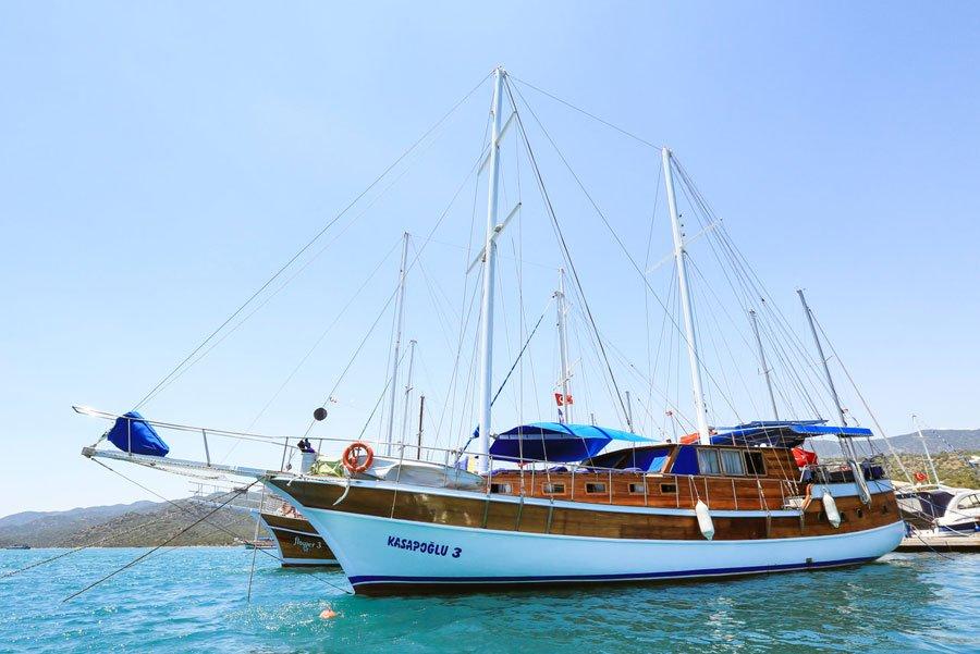 The Kasapoğlu III gulet yacht Turkey exterior