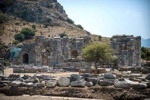 View-of-ruins-in-Kaunos-ancient-city-Turkey