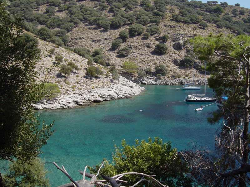 The double bay at Ağa Limanı