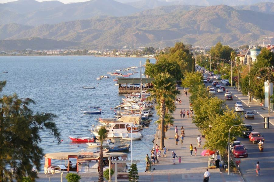 Explore the busy streets and bazaar of Fethiye