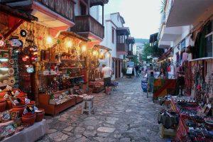 Souvenir shops in the pretty town of Kalkan