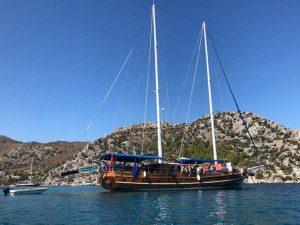 The Kasapoğlu V gulet yacht Kaş Turkey