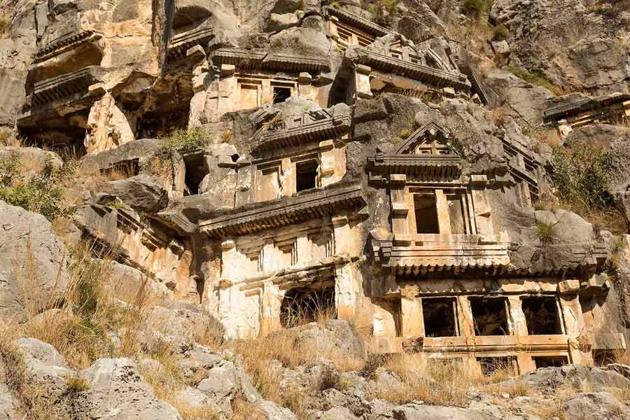 Myra Demre Lycian tombs Turkey