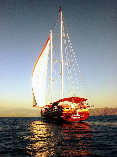 The Kasapoğlu V gulet yacht Kaş Turkey