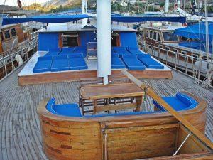 The Kasapoğlu V gulet yacht Kaş Turkey deck